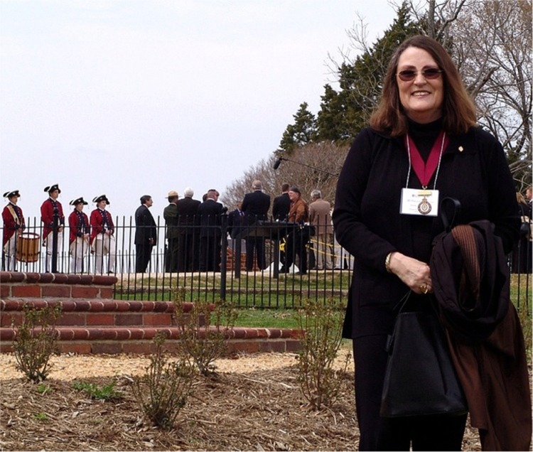 Company Governor Susan Godman Rager at Jamestown April 14, 2007