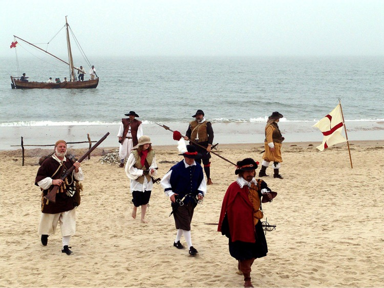 Re-enactors portray roles of early settlers on 400th Anniversary of first landing at Cape Henry